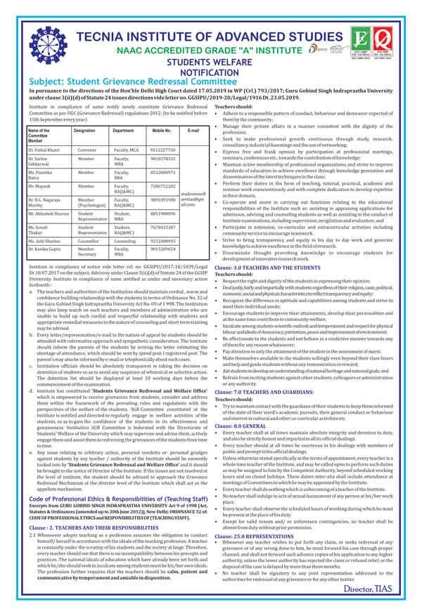 Committees - Tecnia Institute of Advanced Studies